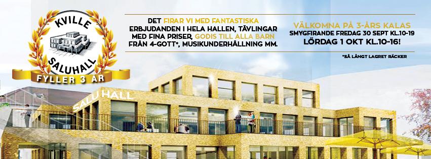 KVILLE SALUHALL FYLLER 3 ÅR